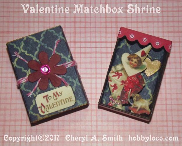 Valentine Matchbox Shrine