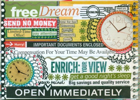 Junk Mail Journal Page - Free Dream