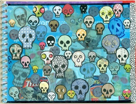 Junk Mail Journal - Skulls