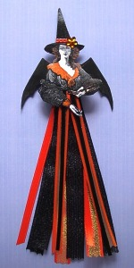 Halloween ribbon fairy art doll