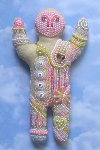 beaded art doll photo 2