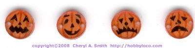 Shrinky Dink Halloween Buttons.