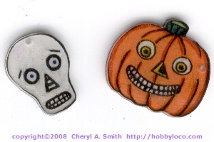 Shrinky Dink Halloween Charms.
