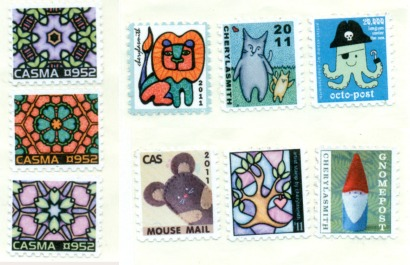 artistamps faux postage